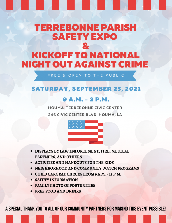 Terrebonne Parish Safety Expo and Kickoff To National Night Out Against Crime image
